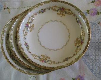 3 Vintage Noritake Eureka China Soup Bowls China Mismatched China Dinnerware Dinner Sets