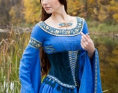 """20% DISCOUNT! Medieval Style Suede Corset Belt """"Lady of the Lake"""""""