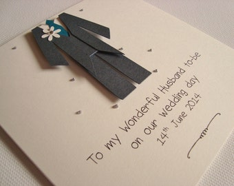 Handmade Personalised Husband To Be Wedding Day Card