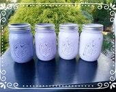 Shades of Lavendar Mason Jars -4