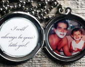 Men's Custom Secret Message and Photo Locket - Great gift for Valentine's Day, Groom, Fiance, Father's Day, Father-of-the-Bride, Engagement