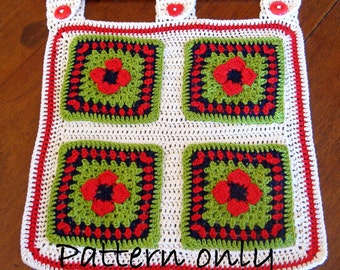 PDF crochet pattern. Photo tutorial. Crochet storage pockets. Instant PDF download.Permission to sell items made from this pattern..