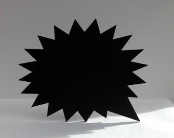 Jagged Speech Bubble Shaped Blackboard / Chalkboard