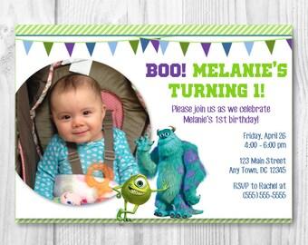 printable Monsters Inc birthday party invitation