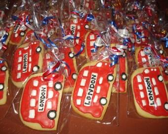Double Decker Bus Vanilla Sugar Cookies - 1 Dozen