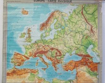 Vintage Belgian Map of Europe
