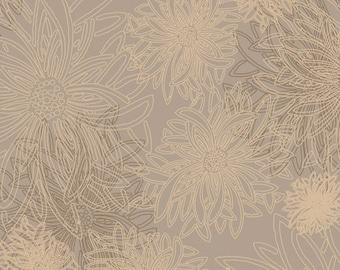 Art Gallery Floral Elements Khaki FE-516 HALF YARD- Athena Coordinate