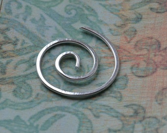 Aluminum, Spiral, Shawl Pin, Scarf Pin, Sweater Clip, Fastener, Screw, Sweater Brooch, Shrug Fastener, Women, Knitting Accessories