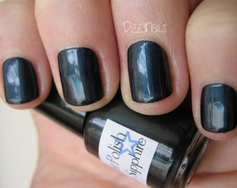 Shadow Sapphire Dark Blue Midnight Custom Nail Polish 15mL