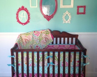 Crib bedding in Kumari Garden-Choose from many different ordering options listed in description