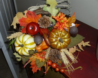 Small cornucopia fall  arrangement