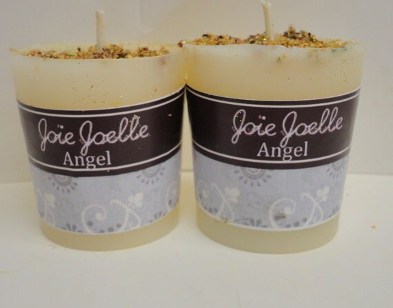 Angel White Spell Candle Kit, for connecting with angels spirit guides, meditation, peace, blessings, faith