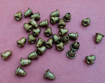 200pcs 6mmx4mm bronze stud earring plug