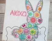 Bunny 2 Silhouette Machine Embroidery Applique Design