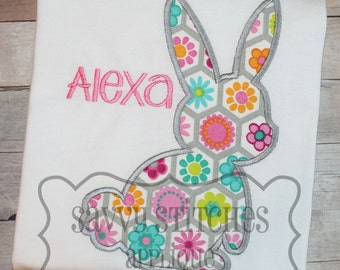 Bunny 2 Silhouette Machine Embroidery Applique Design