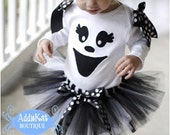 Ghost Halloween Tutu Costume Outfit