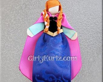 Frozen Anna Hair Clip, Frozen Hair Clip, Anna Hair Bow, Princess Hair Clip, Princess Hair Bow, Frozen Hair Bow