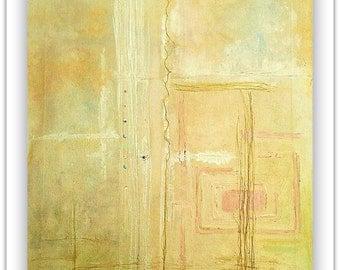 Visions of Beauty- Abstract wall art. Mixed media art, on canvas.