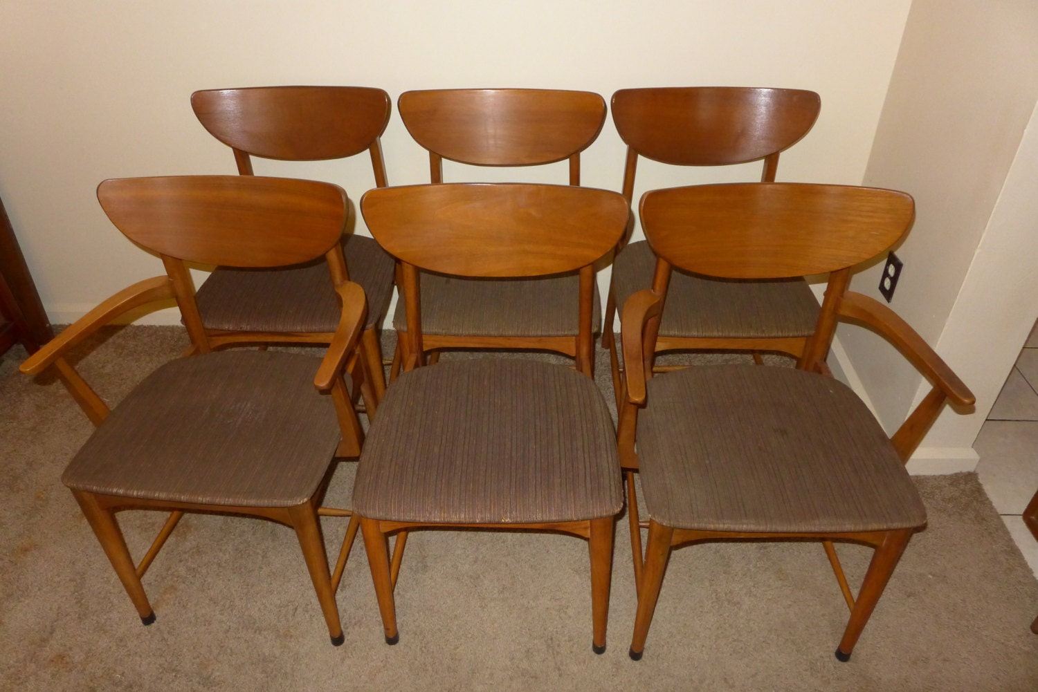 RESERVED for Coree Set of 6 Mid Century Modern by