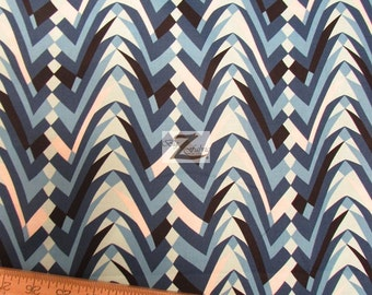 "100% Cotton Fabric By Alexander Henry - Tropolis Blue - Sold By The Yard  - 45"" Width (FH-816)"