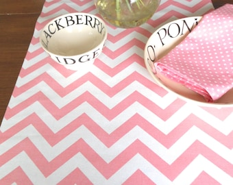 TABLE RUNNER PINK  Wedding top Chevron Table Runners baby shower Party baby pinkTable Cloth 48 60 72 84 96