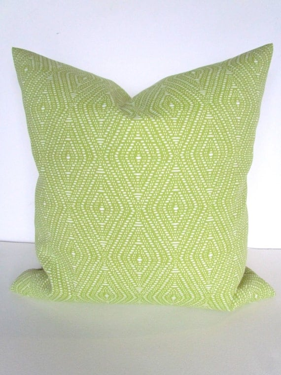 PILLOW Cover Lime green Indoor Outdoor by SayItWithPillows on Etsy
