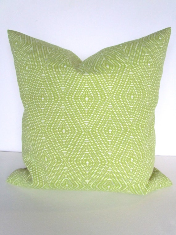 Green Throw Pillows Etsy : PILLOW Cover Lime green Indoor Outdoor by SayItWithPillows on Etsy