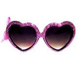 MARIALIA Hot Pink Swarovski(R) Heart Sunnies