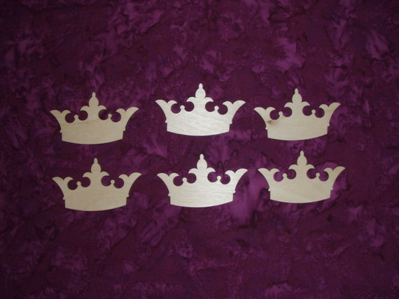 Items Similar To Princess Crown Shape Wood Cut Out