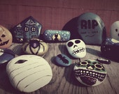 One Day Sale* Additional 20% off ,13 Halloween Rock Set of Wild Harvested River Rocks, each painted one of a kind