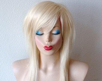 Scene wig. Platinum Blonde wig. Scene hairstyle. Scene girl wig