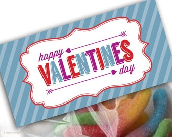Boys Valentine Treat Bag Toppers Printable Instant Download Digital PDF