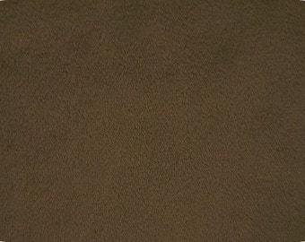 """Fat Quarter size, 18"""" x 30"""" BROWN, piece of cuddle fabric by Shannon Fabrics for crafts, sewing, costumes, pillows"""