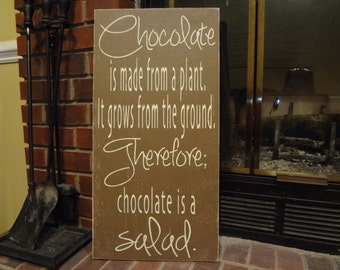 Chocolate Hand Painted Sign
