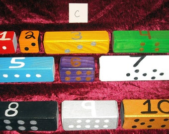 Wooden Blocks for Kids - SET C   (Handmade & Lead Free)
