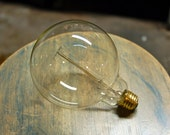Edison Globe Light Bulb - G40 Size, 60 Watt, Vintage Edison Reproduction Clear Glass Bulb, Squirrel Cage Filament