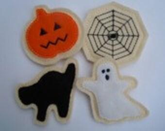 Felt Food - 4 Piece Halloween Cookie Set Felt Play Food