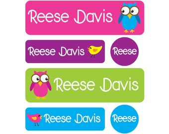 Daycare Pack - Set of 60 Labels - Baby bottle labels, Daycare Labels, Pacifier Labels, Dishwasher safe labels - Pre-made Design