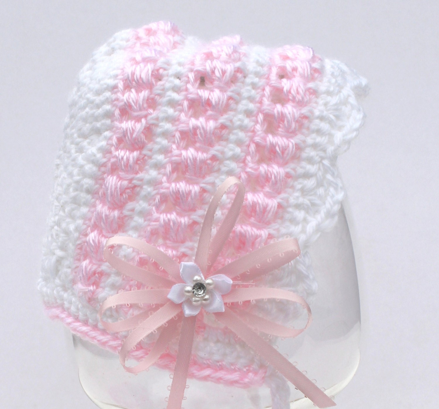 Crochet Pattern Baby Bonnet and Booties PDF 14-137