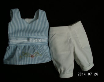 18 inch doll sleeveless top and capri pants for summer