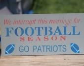 New England Patriots 9X18 sign