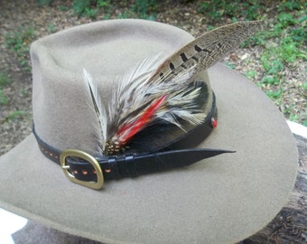 Hand Tooled Leather Hat Bands
