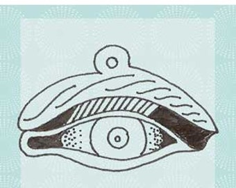 Eye Milagro Red Rubber Cling Stamp