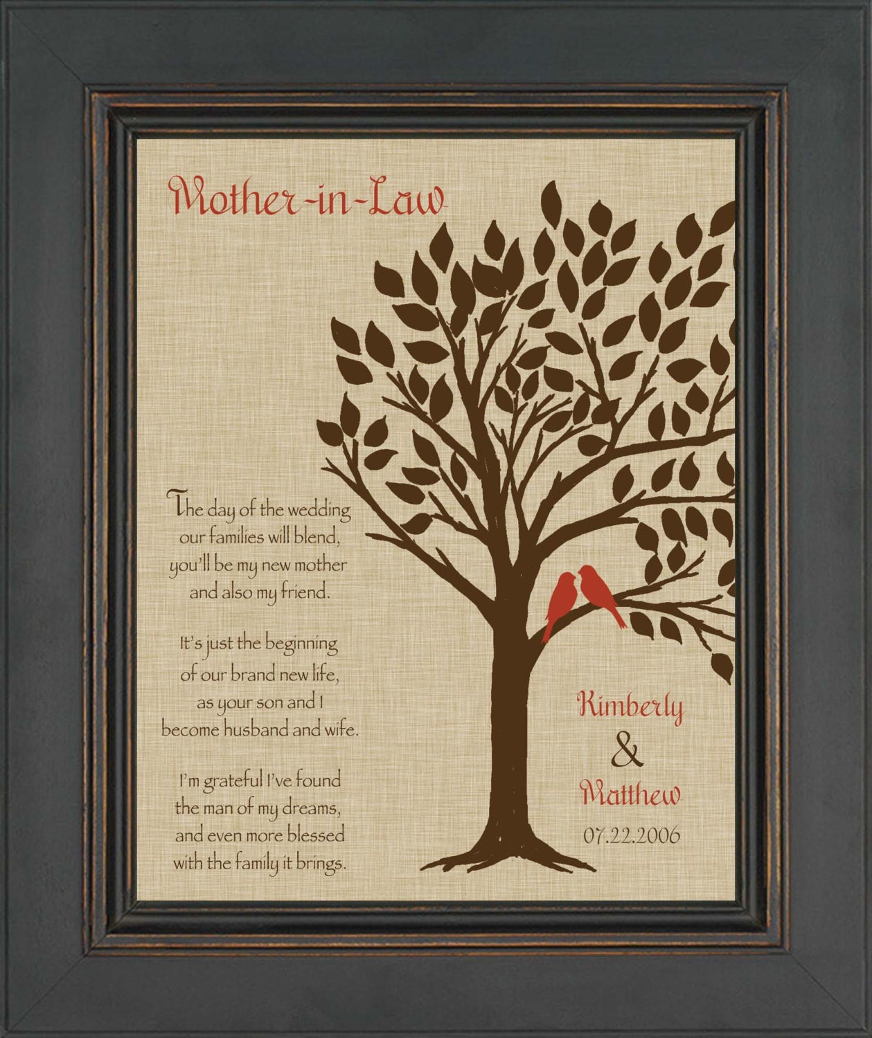 Bridal Gift From Mother: Wedding Gift For Mother In-Law Future Mom In-Law Gift