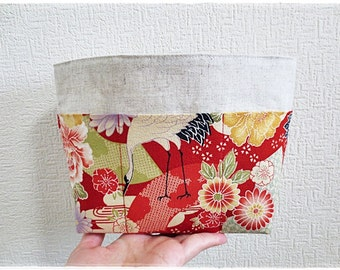 Japanese red crane bag organizer cosmetic organizer bag in bag