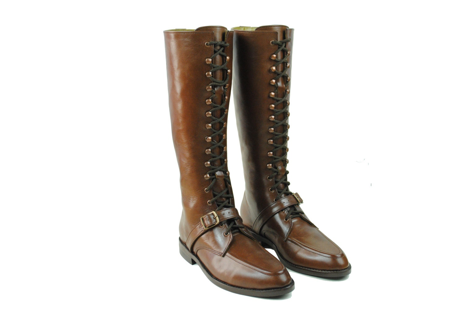 kahlo lineman boots goodyear welt brown leather combat by