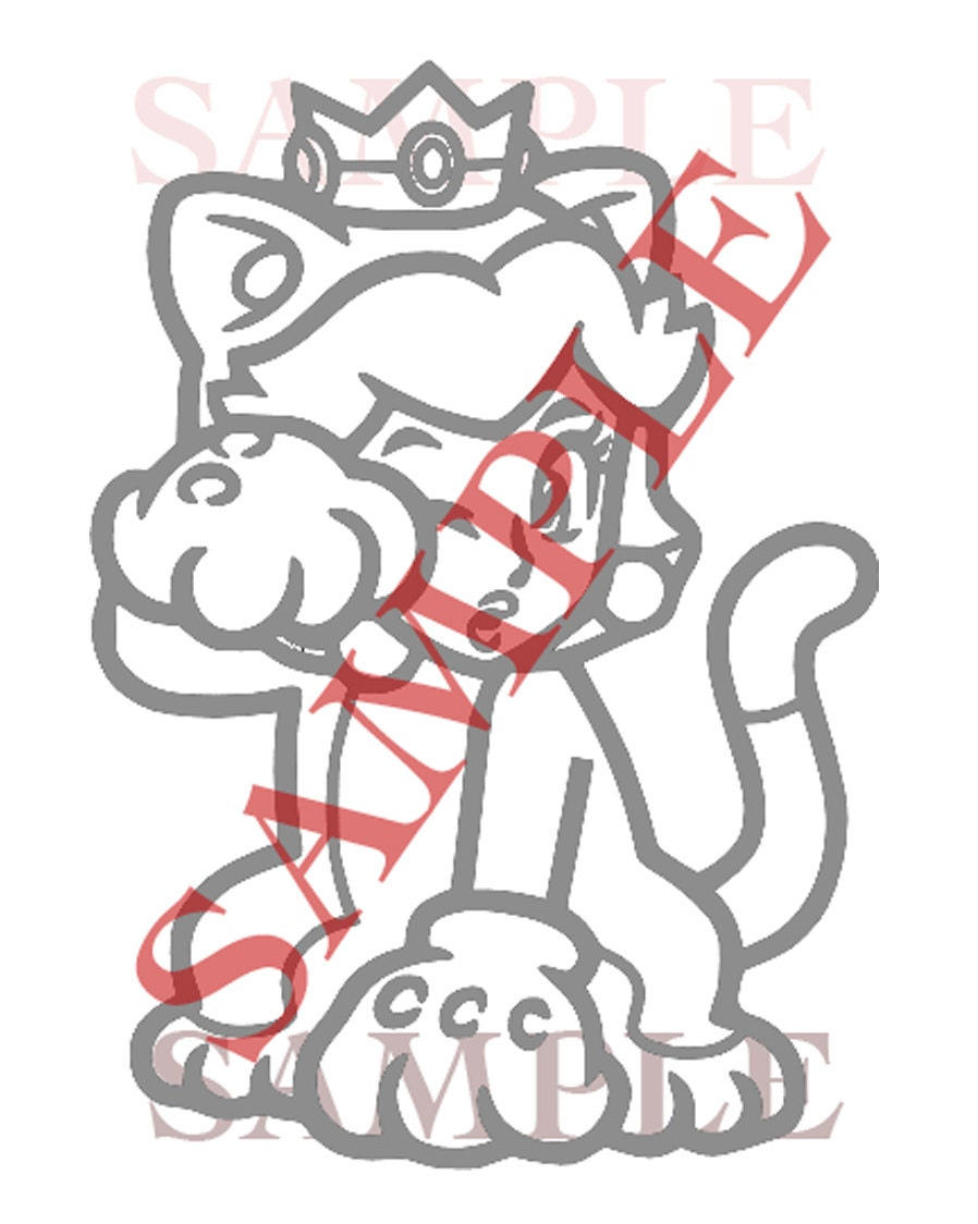 cat bowser coloring page downloads princess peach cat kitty