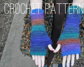 Crochet Pattern - Fingerless Armwarmers