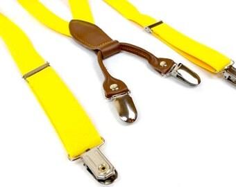 Toddler/Baby Suspenders - Yellow Suspenders