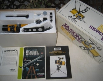 Collectible Vintage Jason Telescope w/Original Box + Eyepieces, Stand & Manuals. L@@K!!!